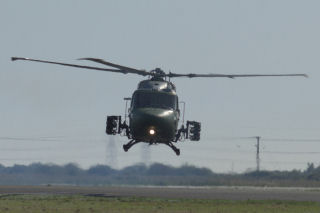 a Lynx army helicopter